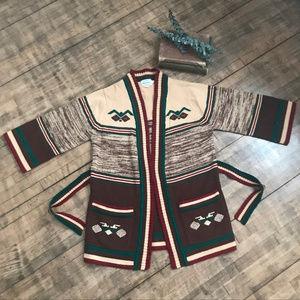 VNT Fully Fashioned 70s style 3/4 sleeve cardigan